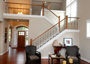 Front Entry Hall & Elegant Stairway