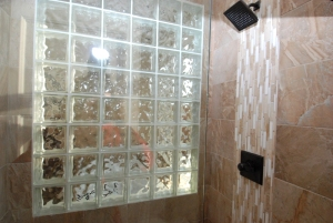 Copy of Custom Shower with Glass Block